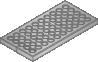 Grasbetonplaat 100x100x12 DW 6 mm