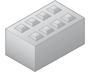 Betonblokken 80 cm hoog